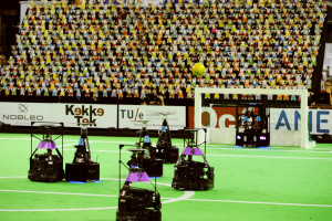 700 Fanbots cheering during the match.  Photo: Bart van de Overbeeke (bvof.nl) -- CC-BY