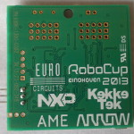 Back side of the FanBot PCB